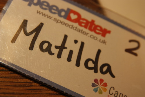 Something you should do…Speed dating