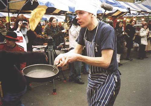 The Great Spitalfields Pancake Race, London © Alternative Arts