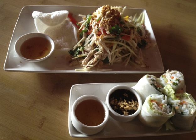 Papaya Salad and Summer Rolls