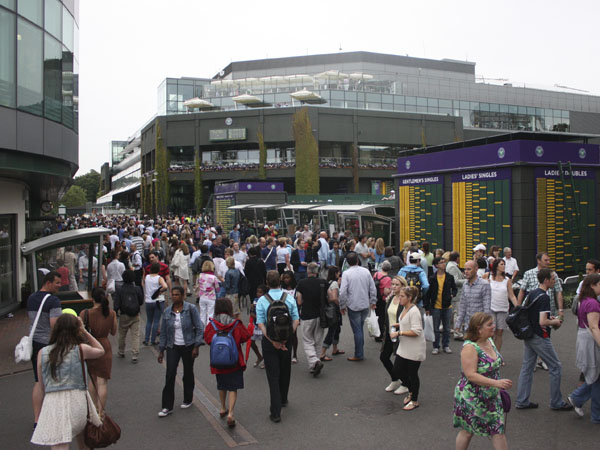 Crowds at Wimbledon