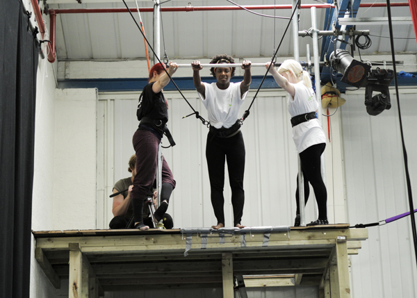 Trapezing at Air Circus