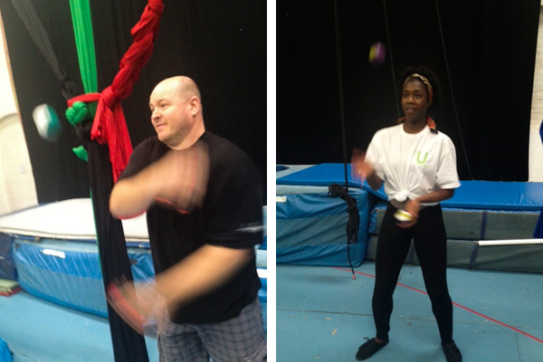 Juggling at Air Circus