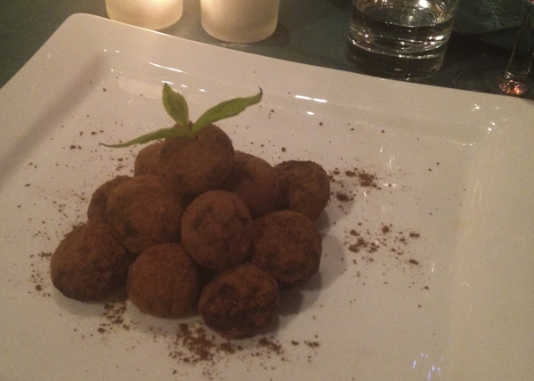 Olives from Spain - chocolate truffles