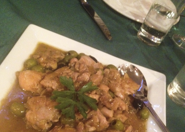 Olives from spain - chicken