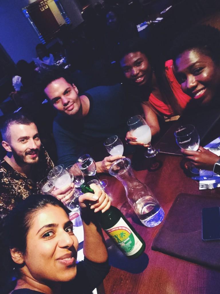 Palm wine selfie