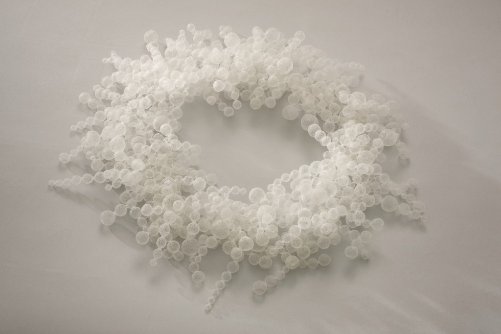 Nora Fok, Bubblebath, 2001, Nylon thread. Crafts Council Collection, Photo: Heini Schneebeli