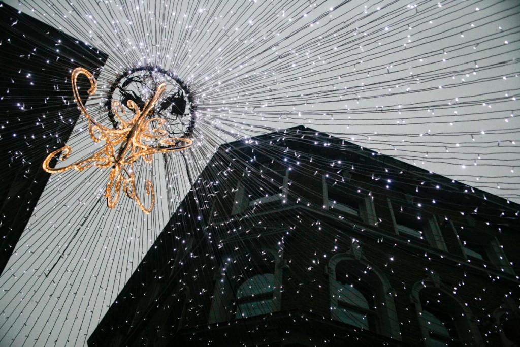 Christmas lights on Watling Street.