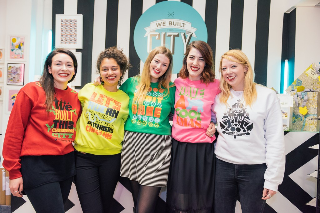 How cute are these?  We Built This City staff rock the Christmas jumpers you can design yourself