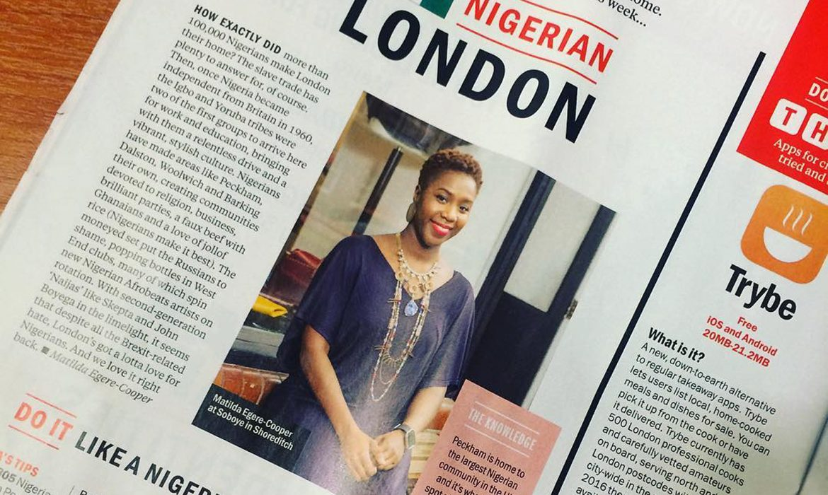 Nigerian London feature in Time Out magazine
